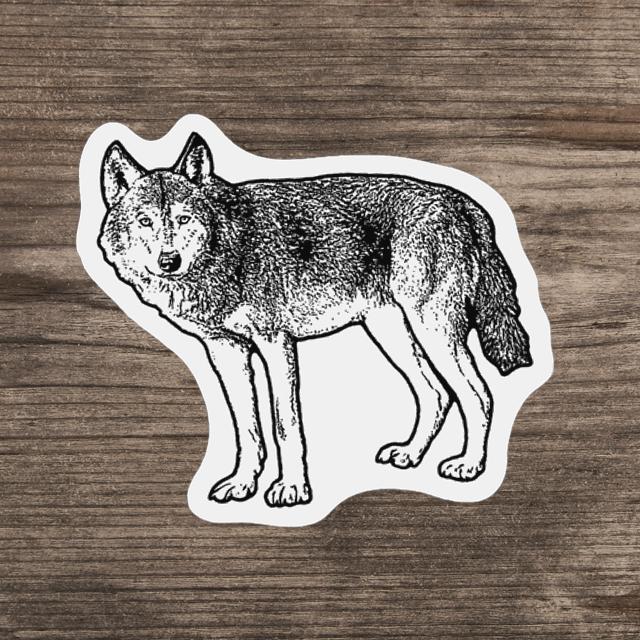 ミニステッカー(オオカミ)
