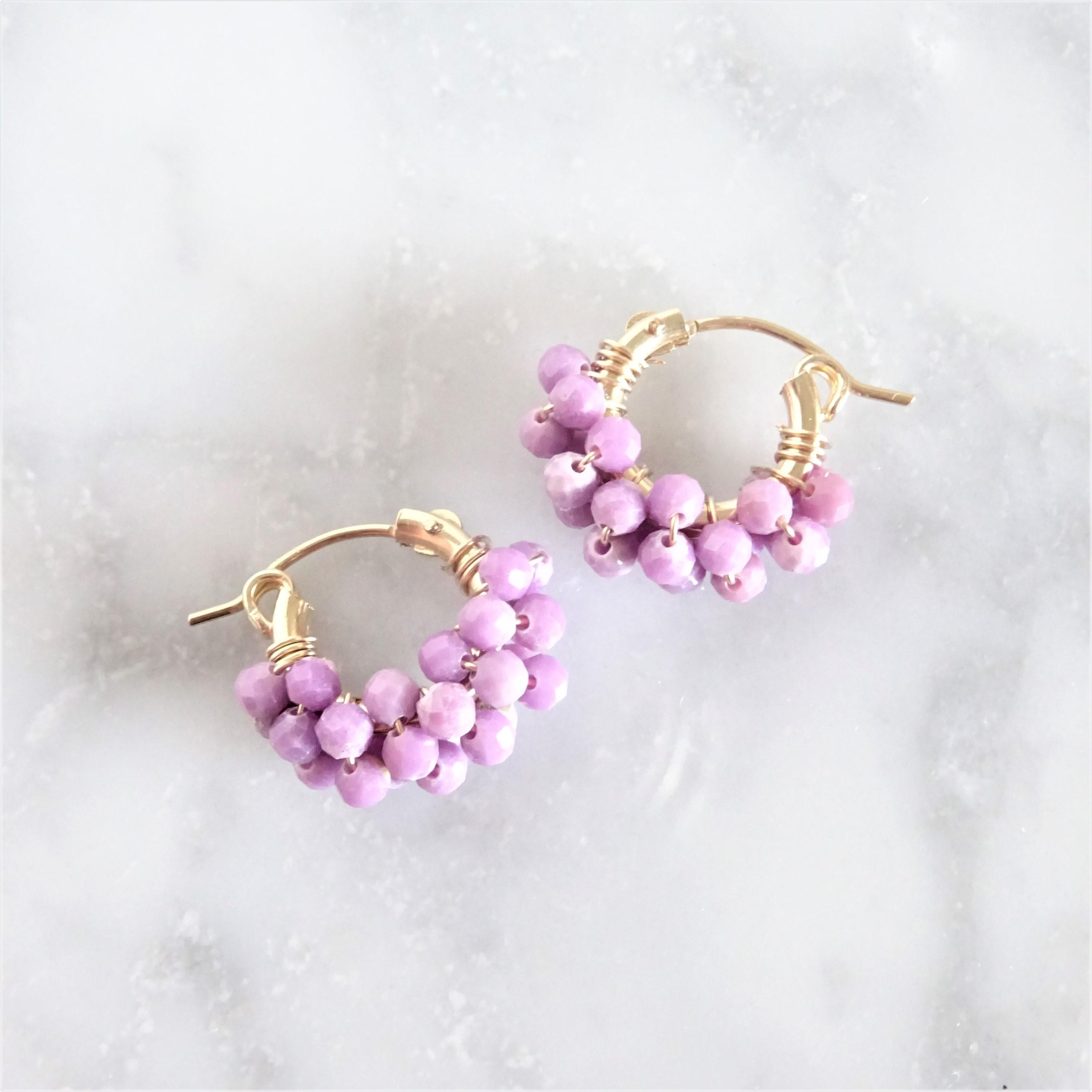 14kgf*Phosphosiderite pavé pierced earring / earring