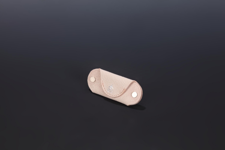 【国産イノシシ革】Designers Jewelry buff Webshop限定コラボキーケース(Natural)【NOTO Leather使用】