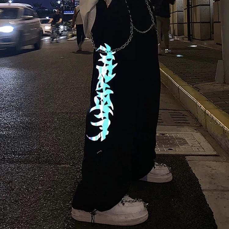 reflector print over pants