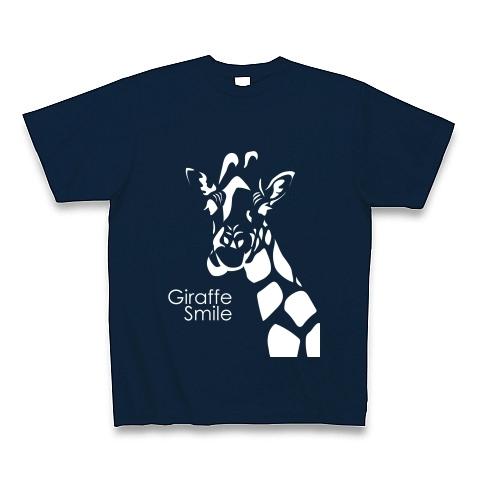 メンズTシャツ☆giraffe☆ネイビー