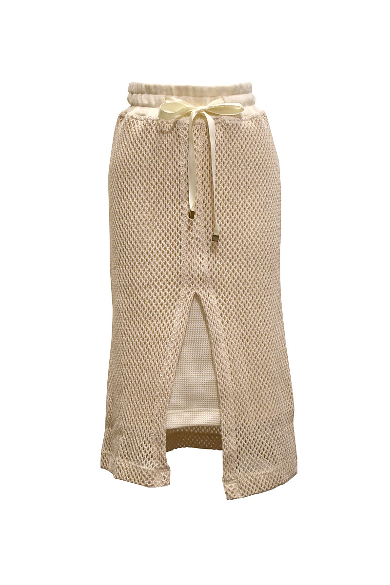 l'A.S / ラッセルメッシュペンシルスカート / off-white