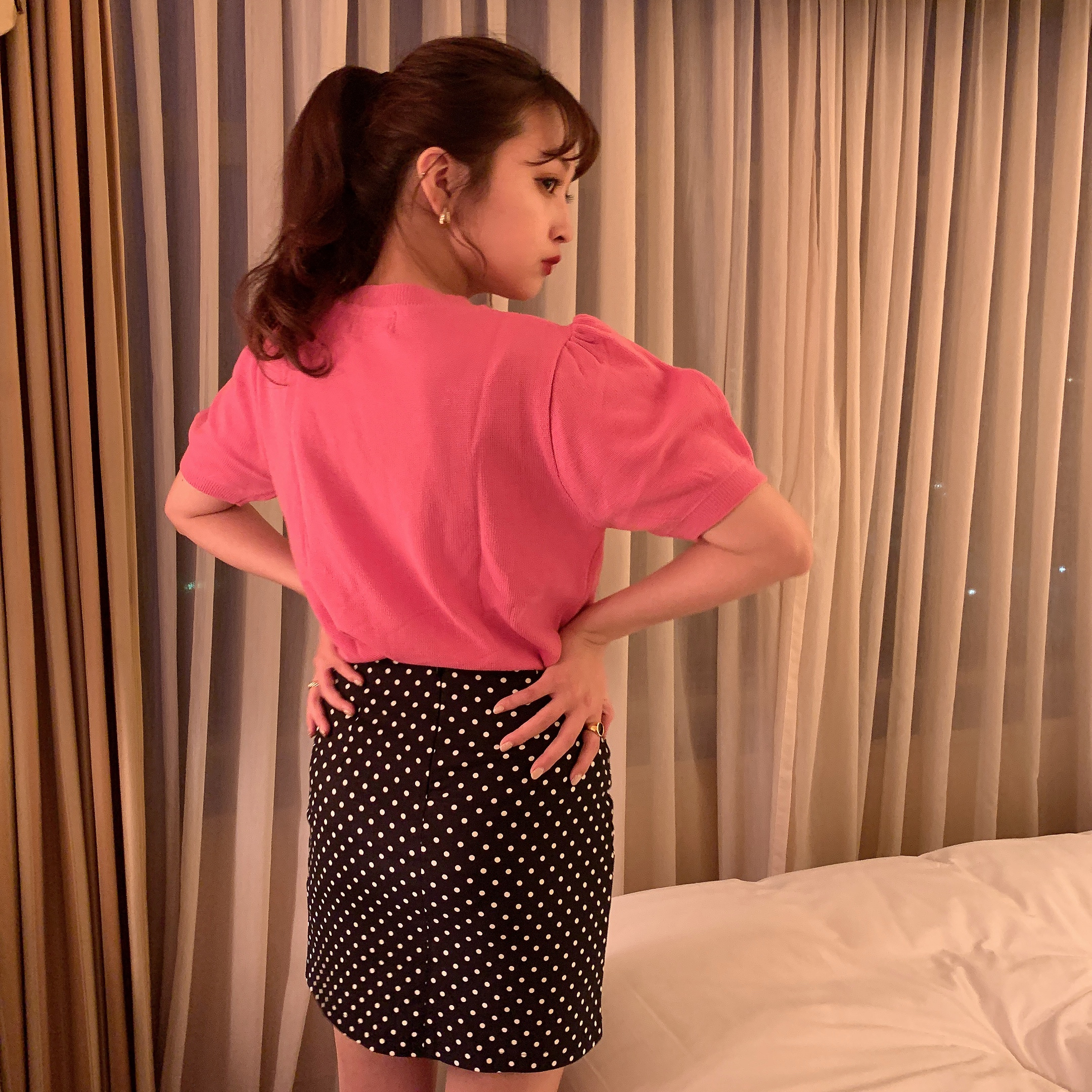 vivid pink knit