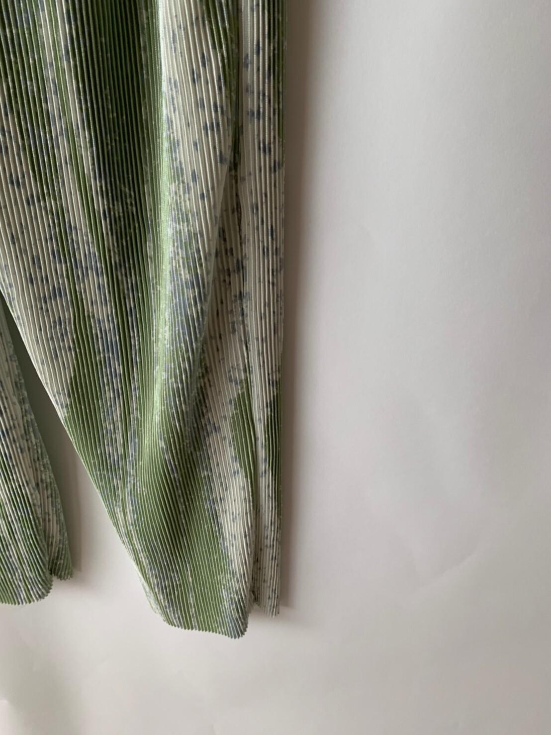 【asyu】pleats  matcha  pants