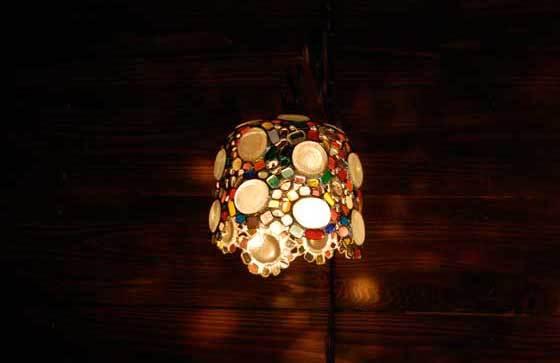 星をちりばめた(ステンドグラスの吊りランプ)(ペンダントライト) 01010017