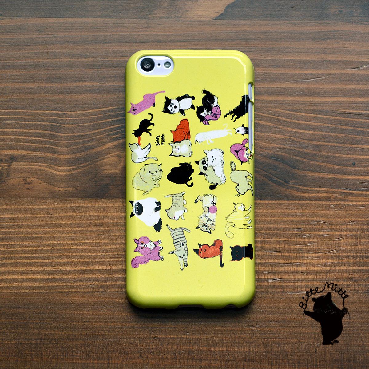 iphone5c ケース ハードケース アイフォン5c ケース ハード iphone5c ケース ねこ かわいい ネコの集会/Bitte Mitte!