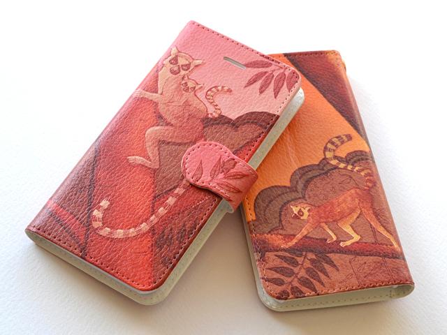 【送料無料】夕焼けワオキツネ 〜 手帳型スマホケース《受注生産:iPhone,Android対応》