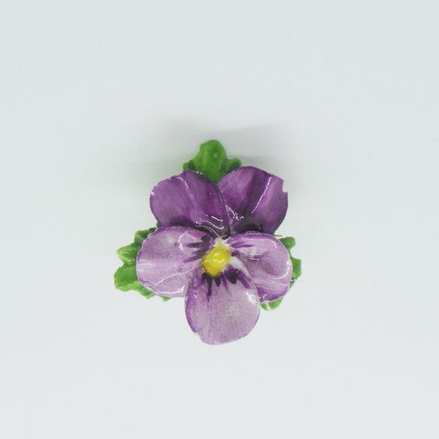 ビオラの花のブローチ(紫)
