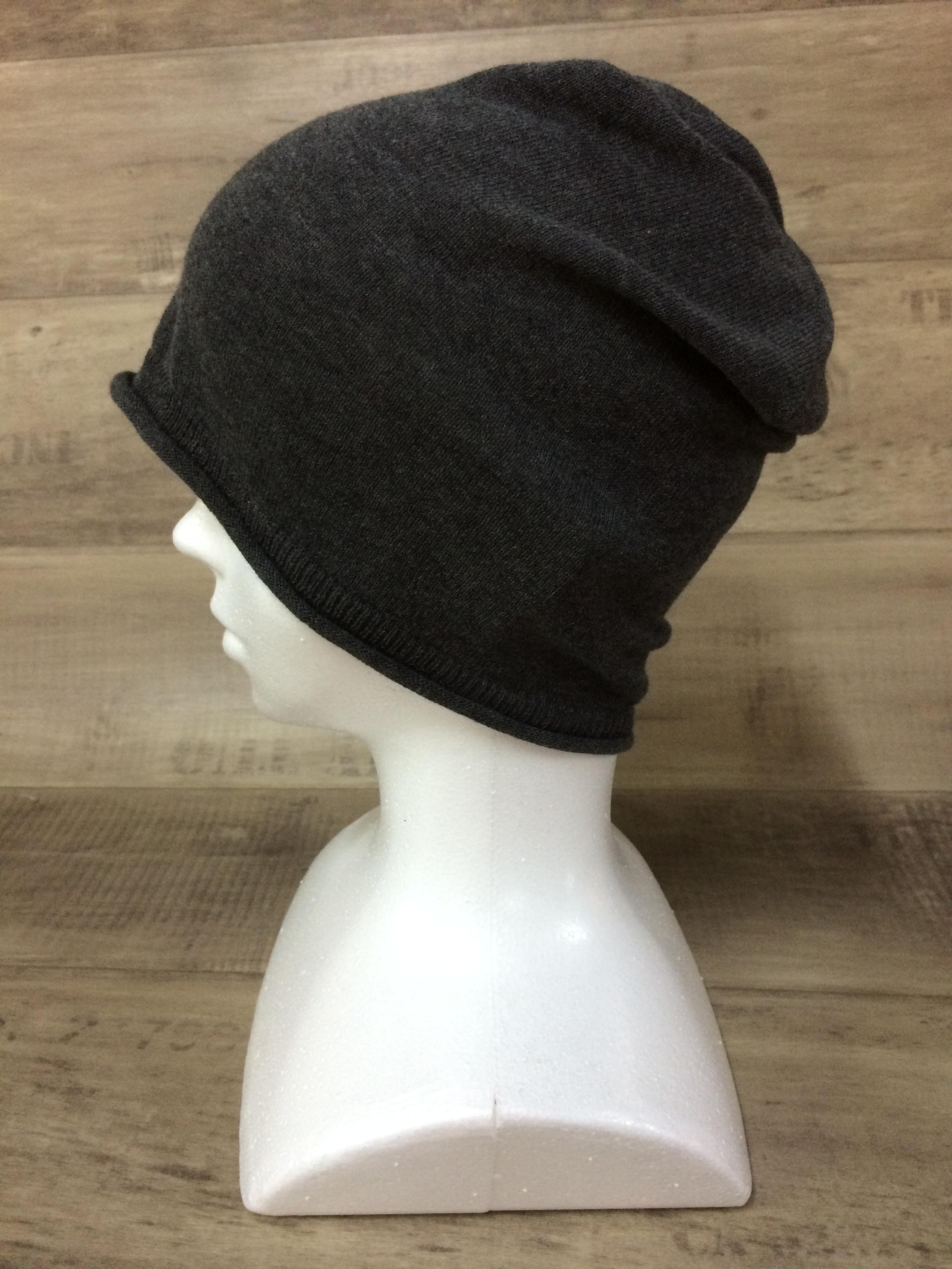 【送料無料】こころが軽くなるニット帽子amuamu|新潟の老舗ニットメーカーが考案した抗がん治療中の脱毛ストレスを軽減する機能性と豊富なデザイン NB-6058|竹炭 <オーガニックコットン アウター>