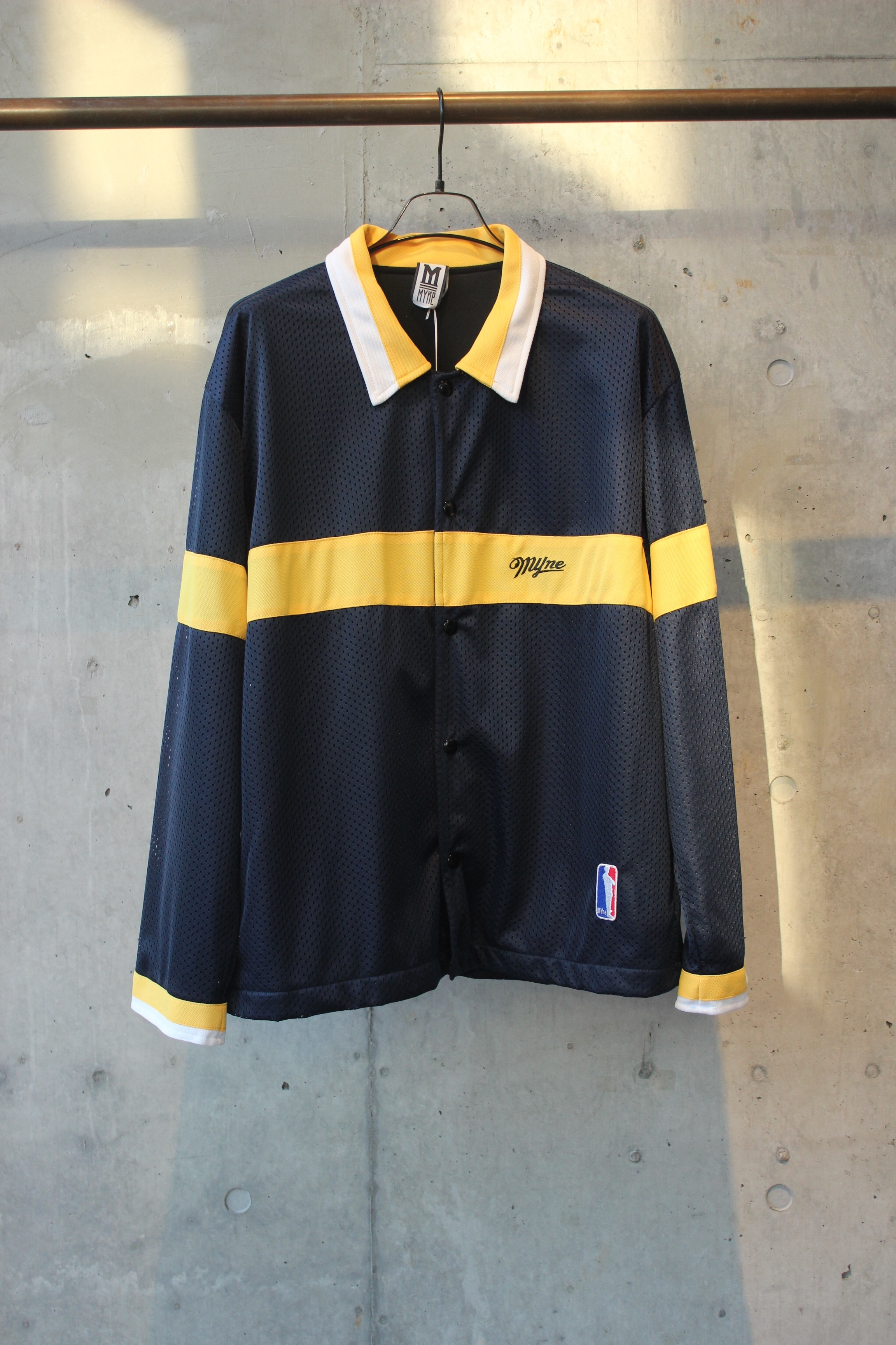 【50%OFF】mesh sports jacket / NAVY×YELLOW - 画像1
