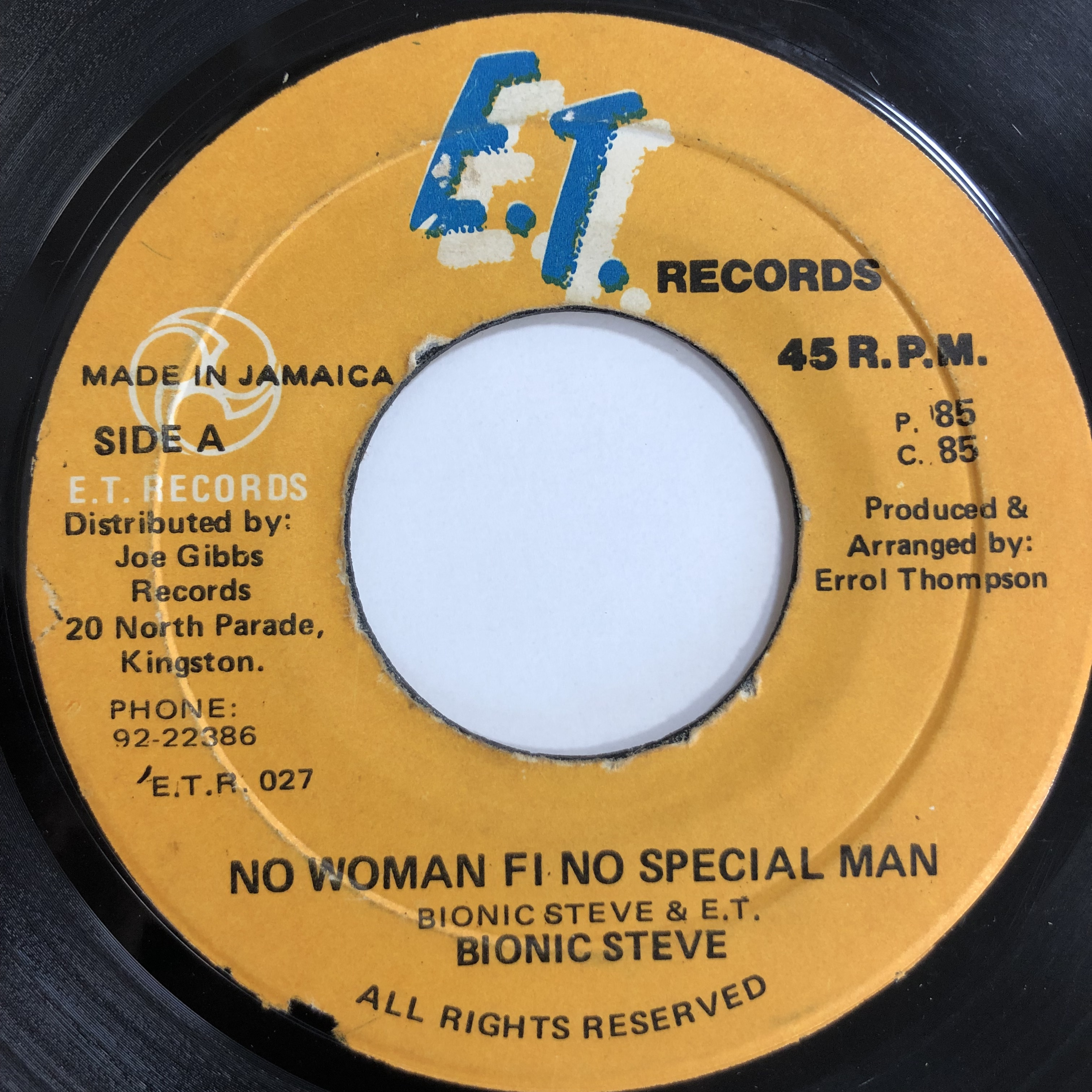 Bionic Steve(バイオニックスティーブ) - No Woman Fi No Special Man【7-20087】