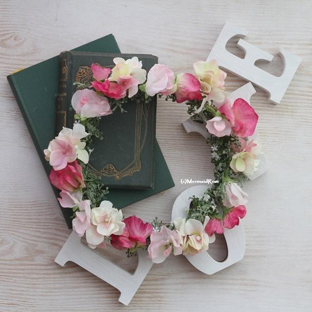 花冠スイトピー(ピンク)と紫陽花(5.LTPK)のピンクミックス
