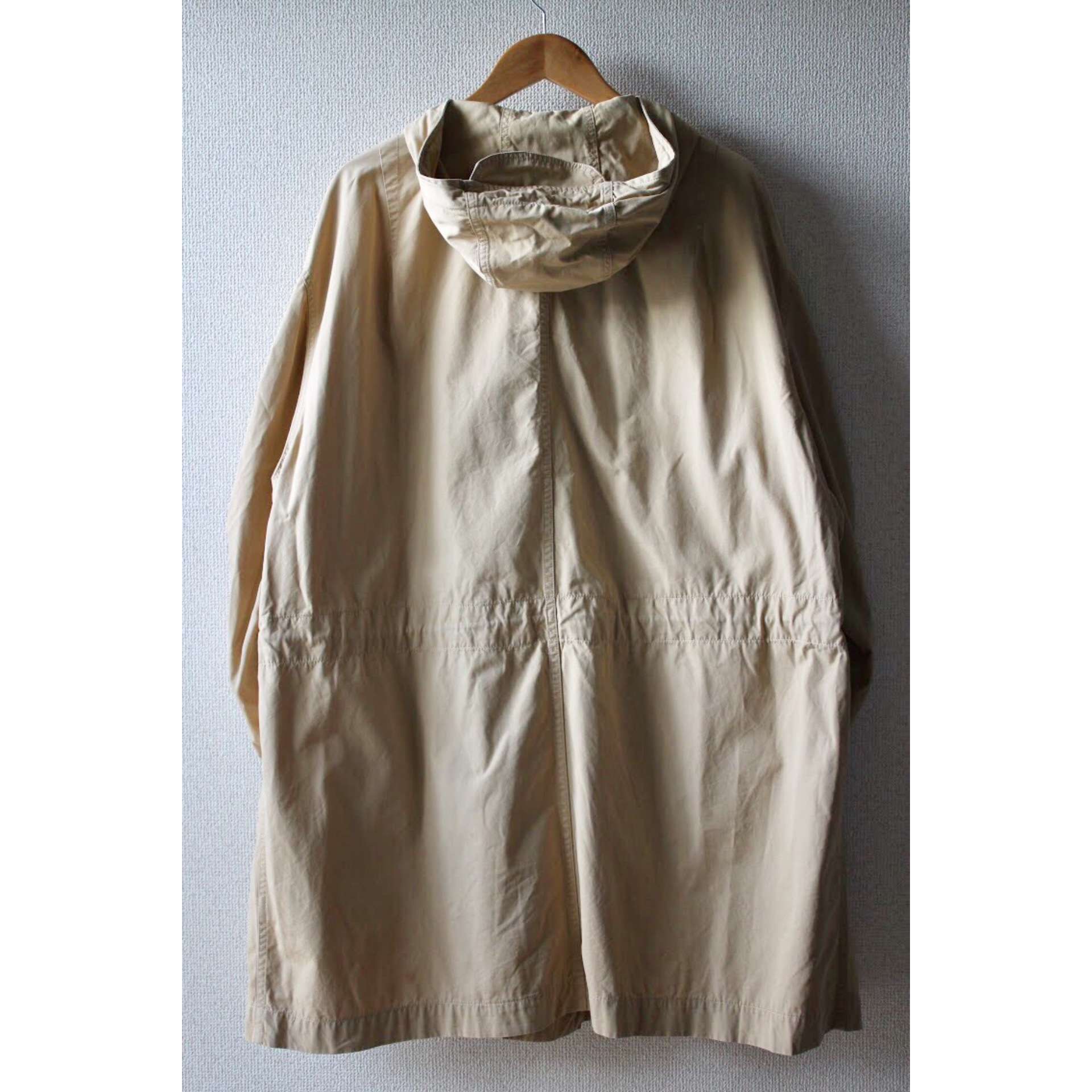 Vintage hooded coat M-51 type by United Colors Of Benetton