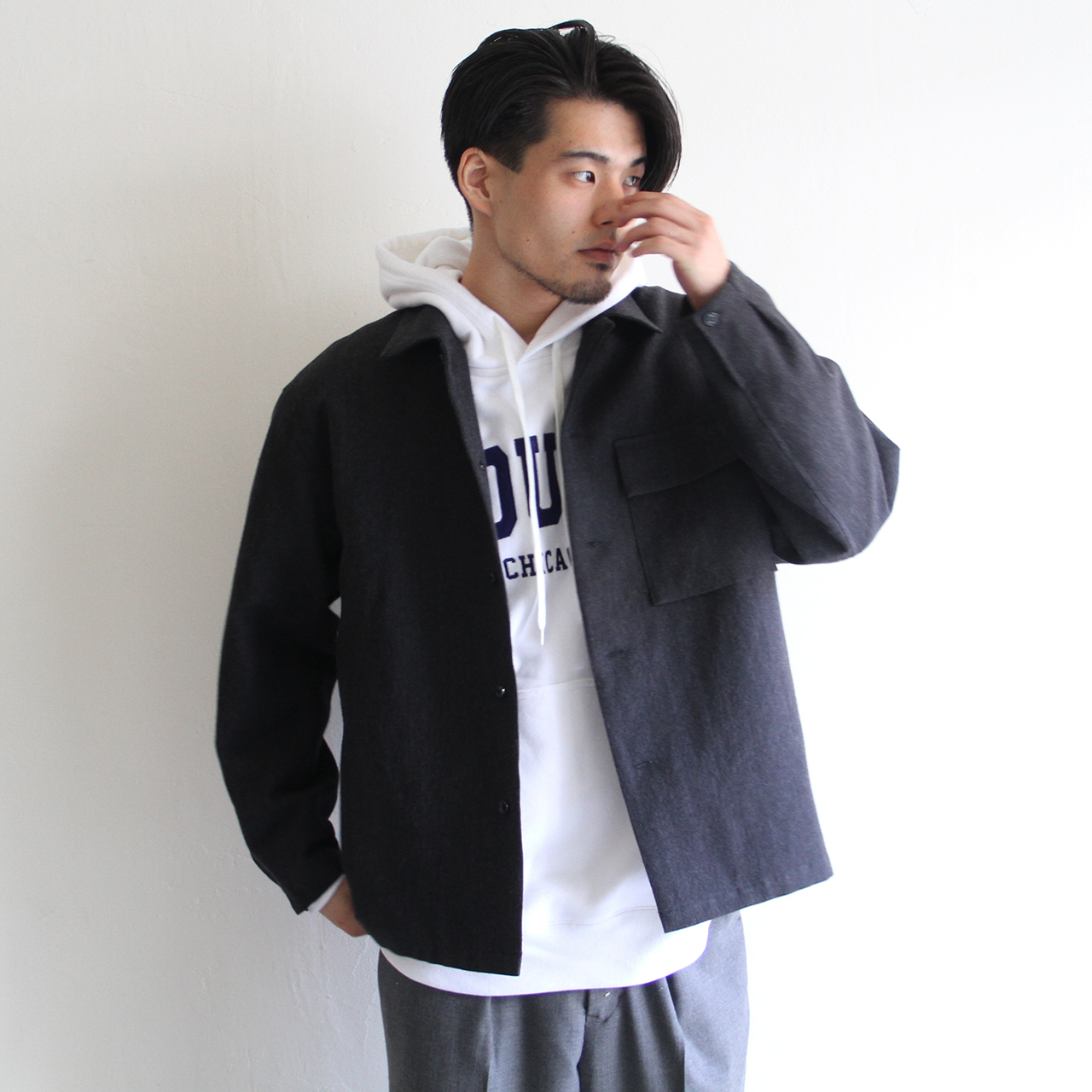 STILL BY HAND  【 mens 】wool linen coverall