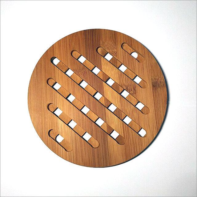 天然竹製 鍋敷き(まる)