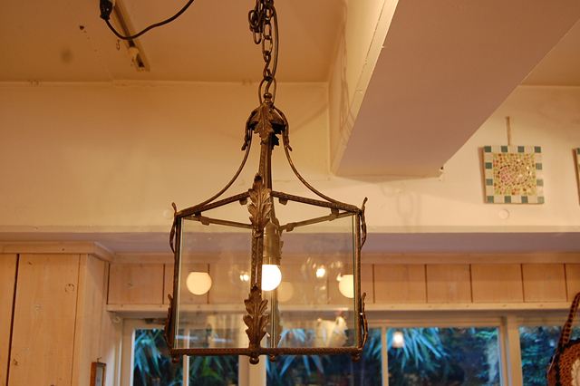 CHEHOMA チェホマ ベルギー アイアン 四角つりさげランプ