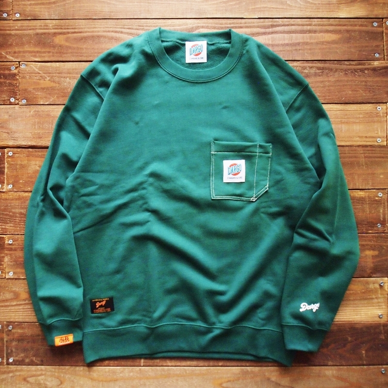 【DARGO】Working Pocket Crew Neck Sweat Shirt (IVY GREEN)