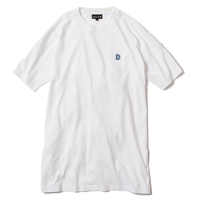 【Deviluse | デビルユース】D Long Length T-shirts(White)