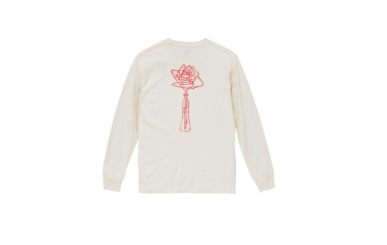 coguchi rose long tshirts (wh/red)