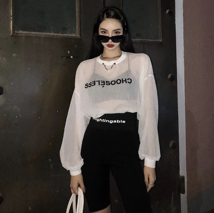 total mesh logo shirt