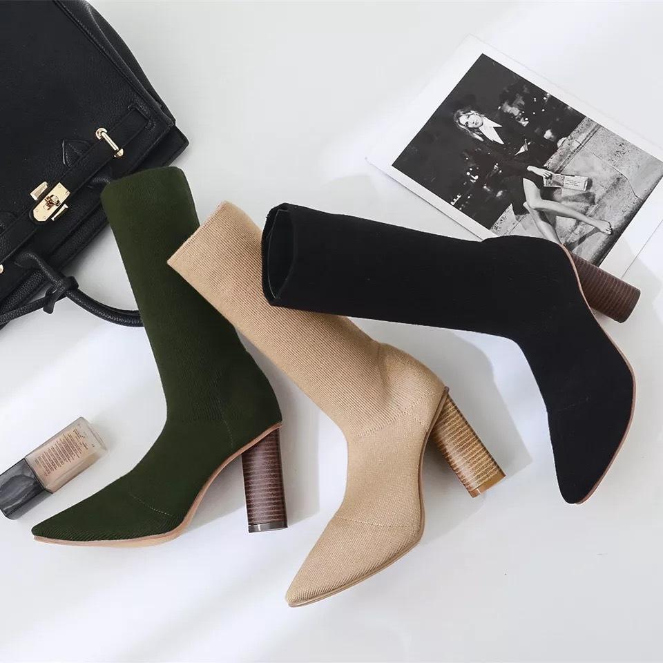 wood heel boots
