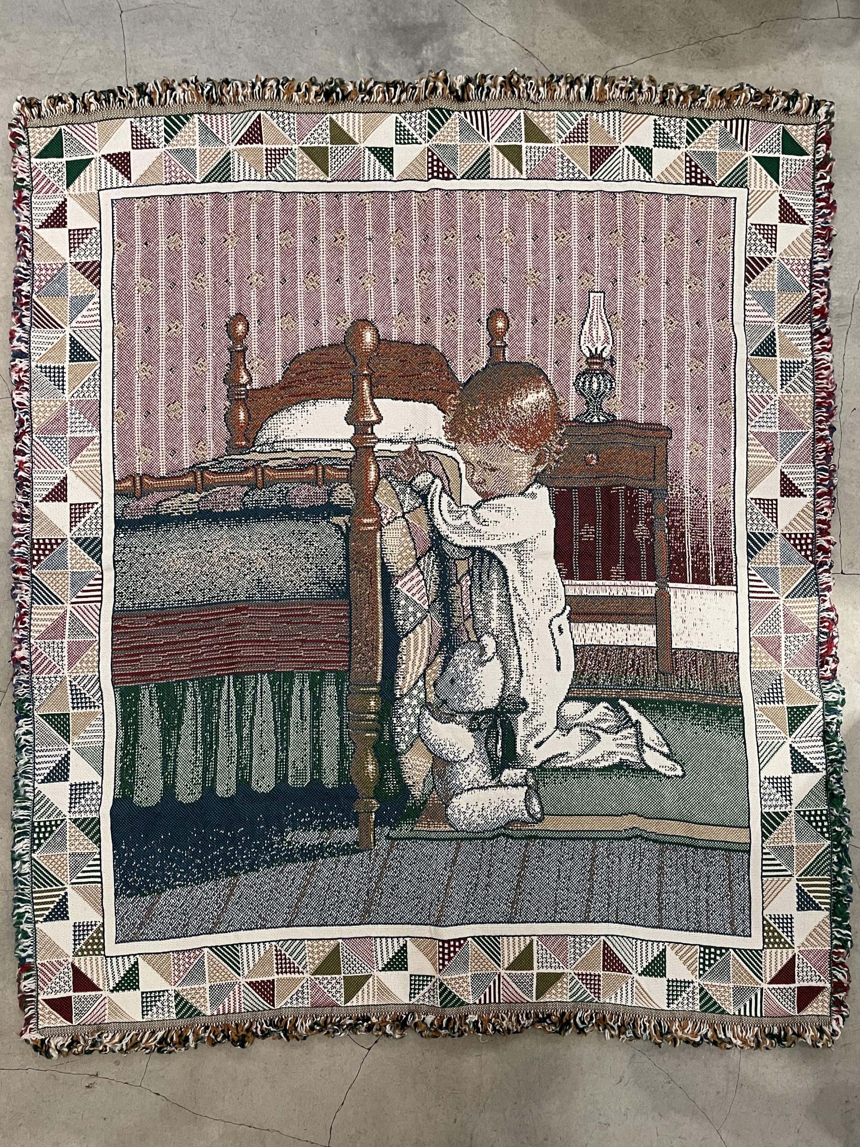 vintage tapestry rag