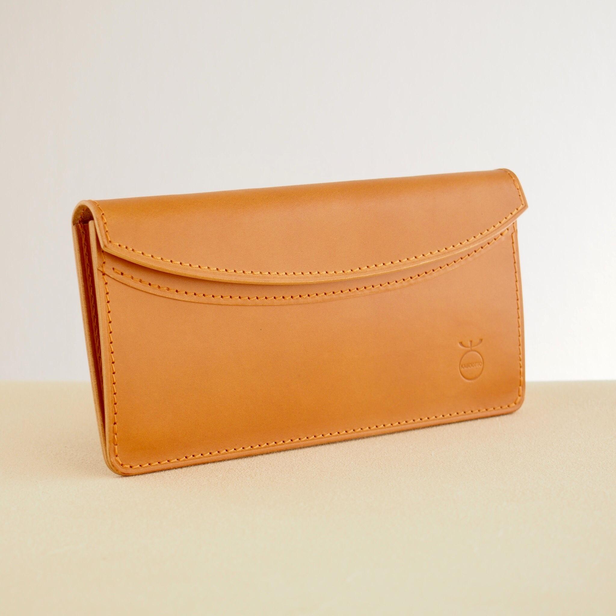 薄い軽い使いやすい! スリムな財布#キャメル