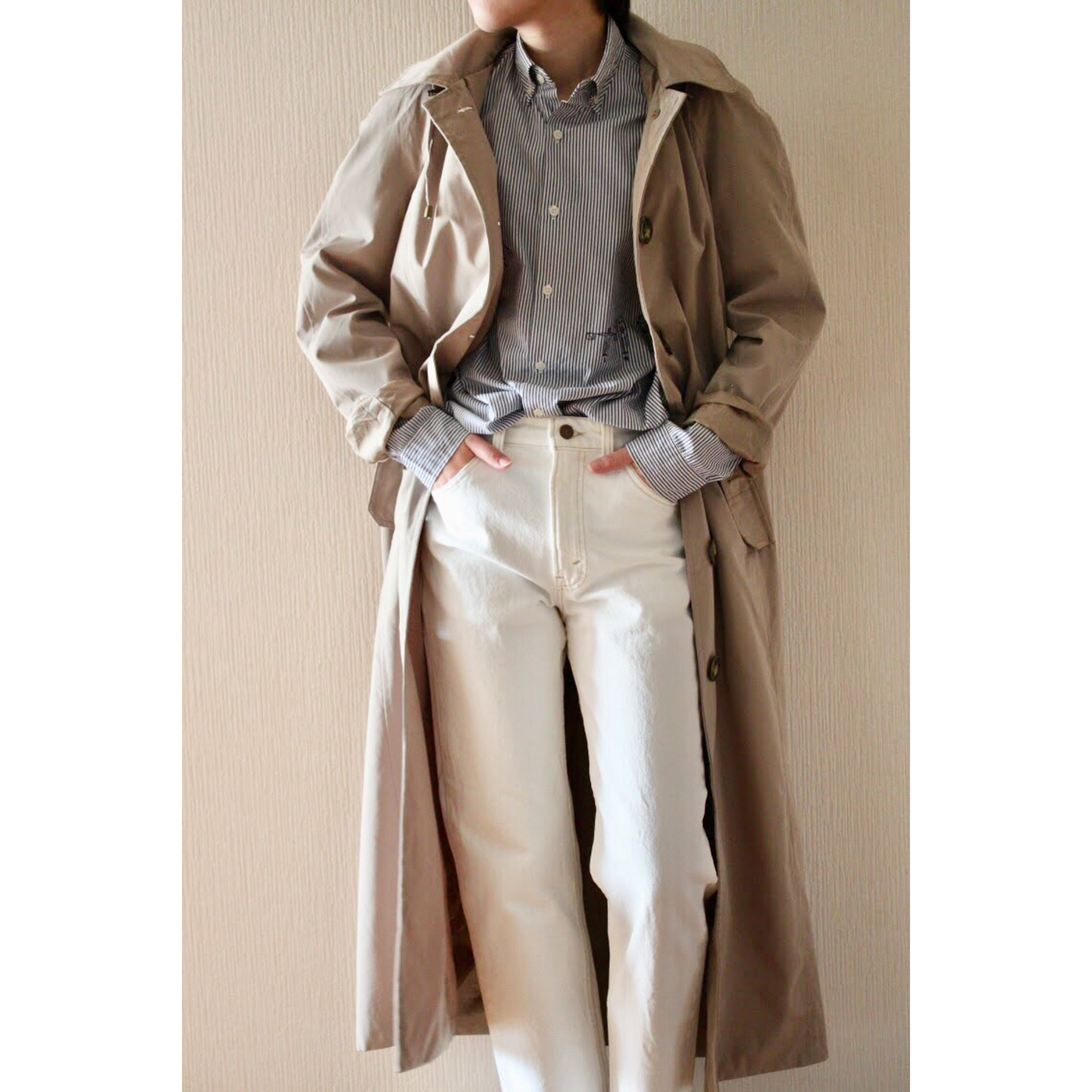 Vintage hooded long coat