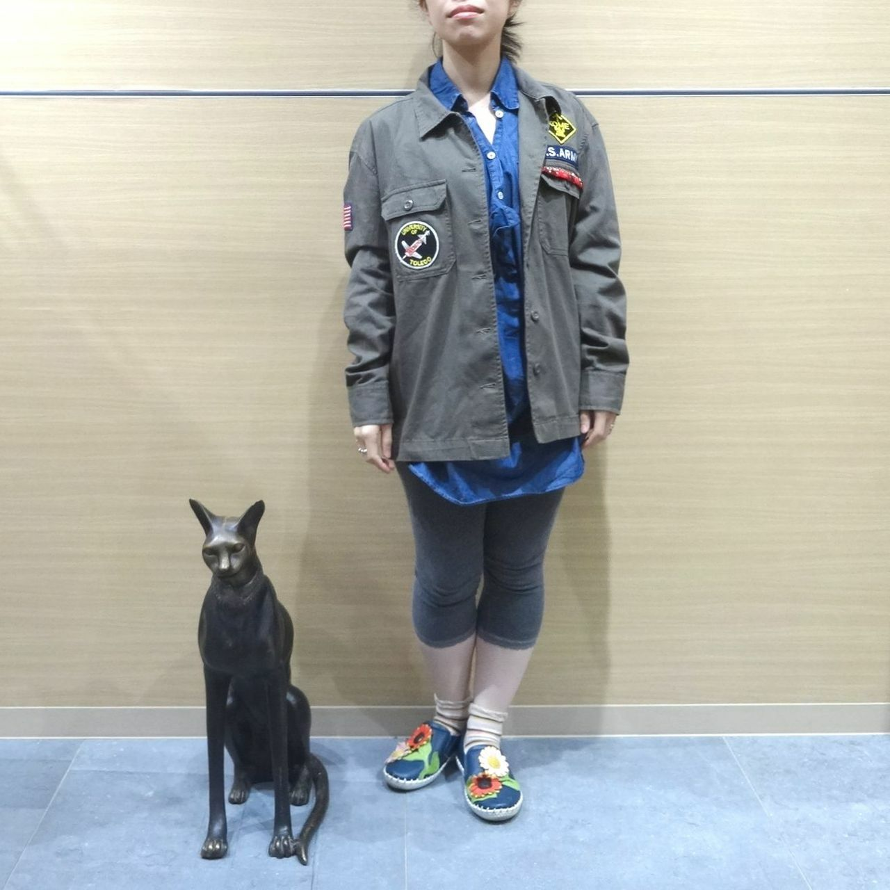 drm-001 アップサイクル アーミージャケット