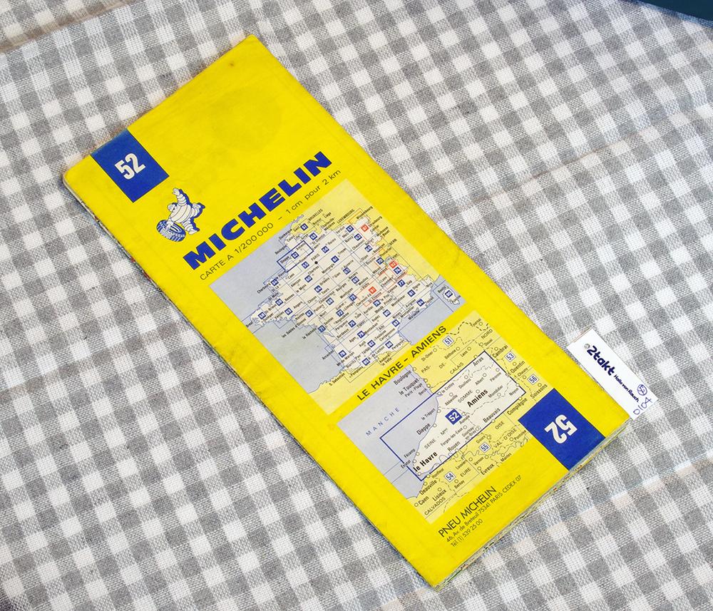 【Vintage/Used品】1984 MICHELIN MAP No.52 フランス北部 LE HAVRE-ANIENS /0104