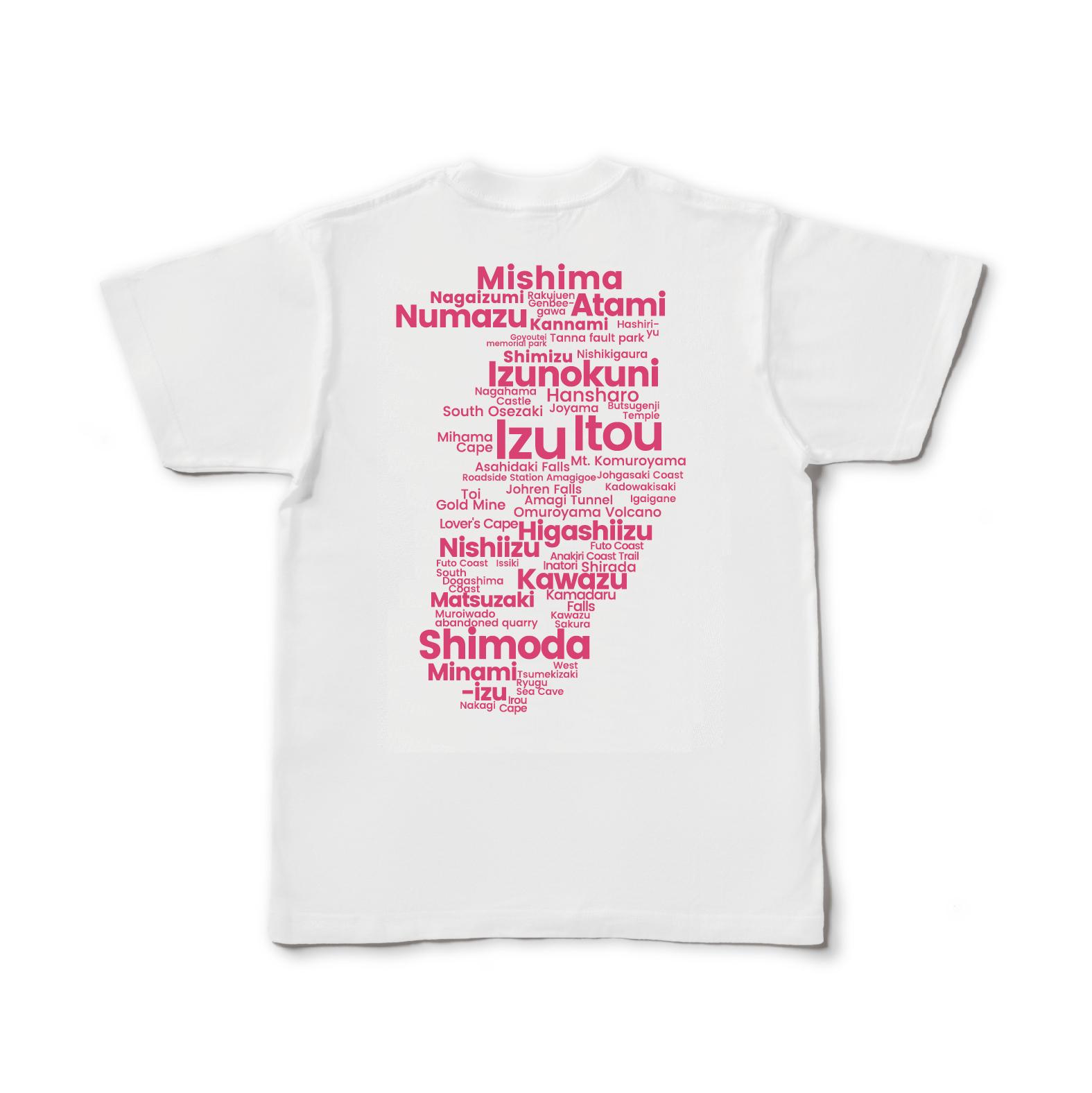 【即日発送】Izu GEO Typography Tee(Rose Pink)