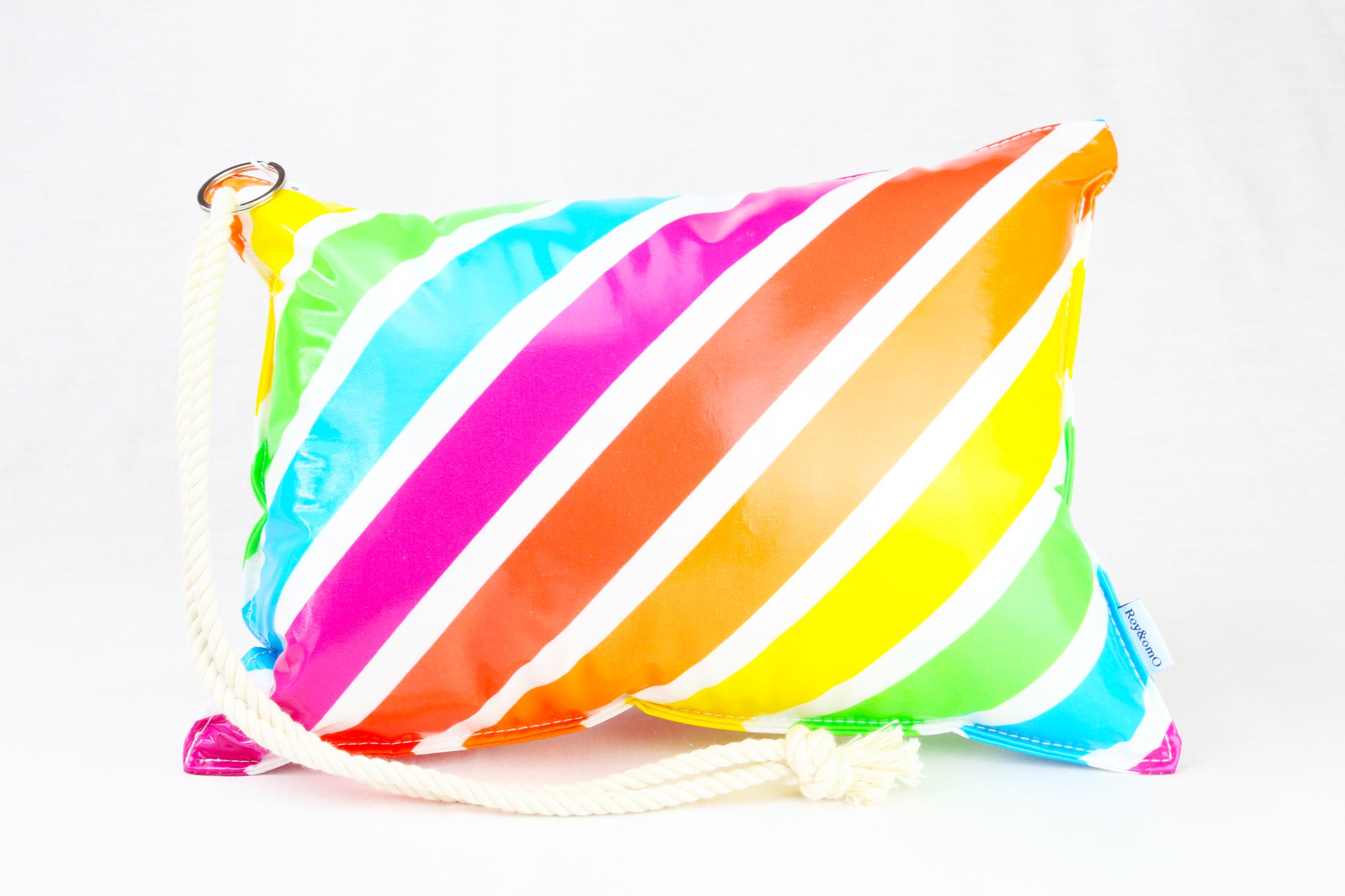 Pillow Bag (plumpillow purse)【Vivid Rainbow】まくら×ポーチ アウトドア