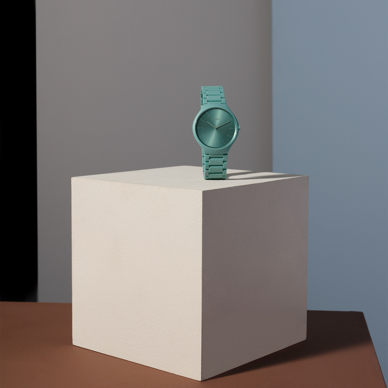 【RADO ラドー】True Thinline Les Couleurs™ Le Corbusier  Slightly greyed English green 32041 シンライン ル・コルビュジエ(グリーン)/正規輸入品