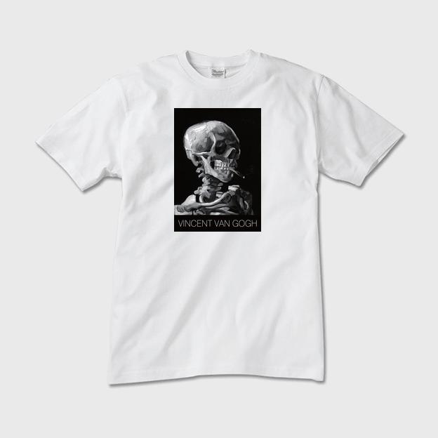 ゴッホ「スカル」Tシャツ