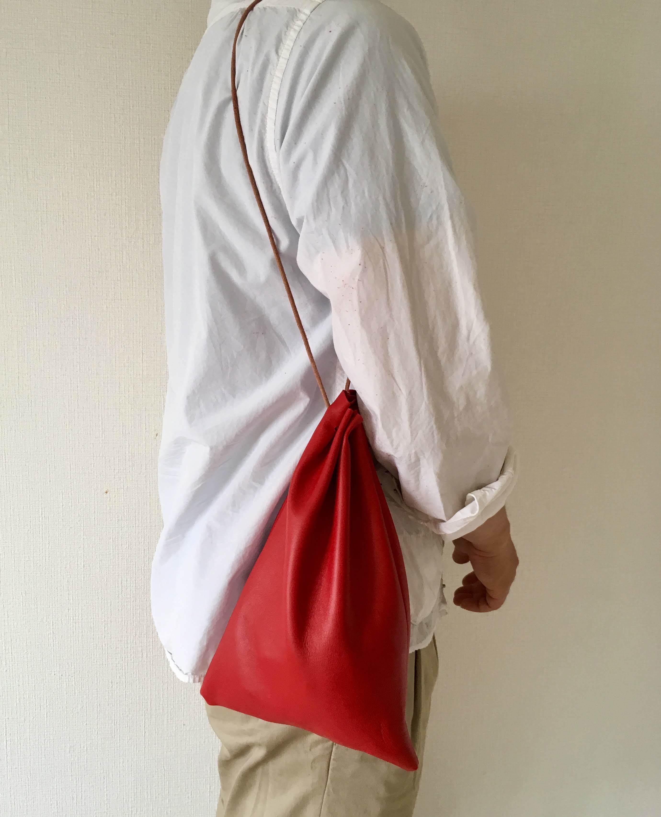 Utility Bag レザー巾着 - 画像2