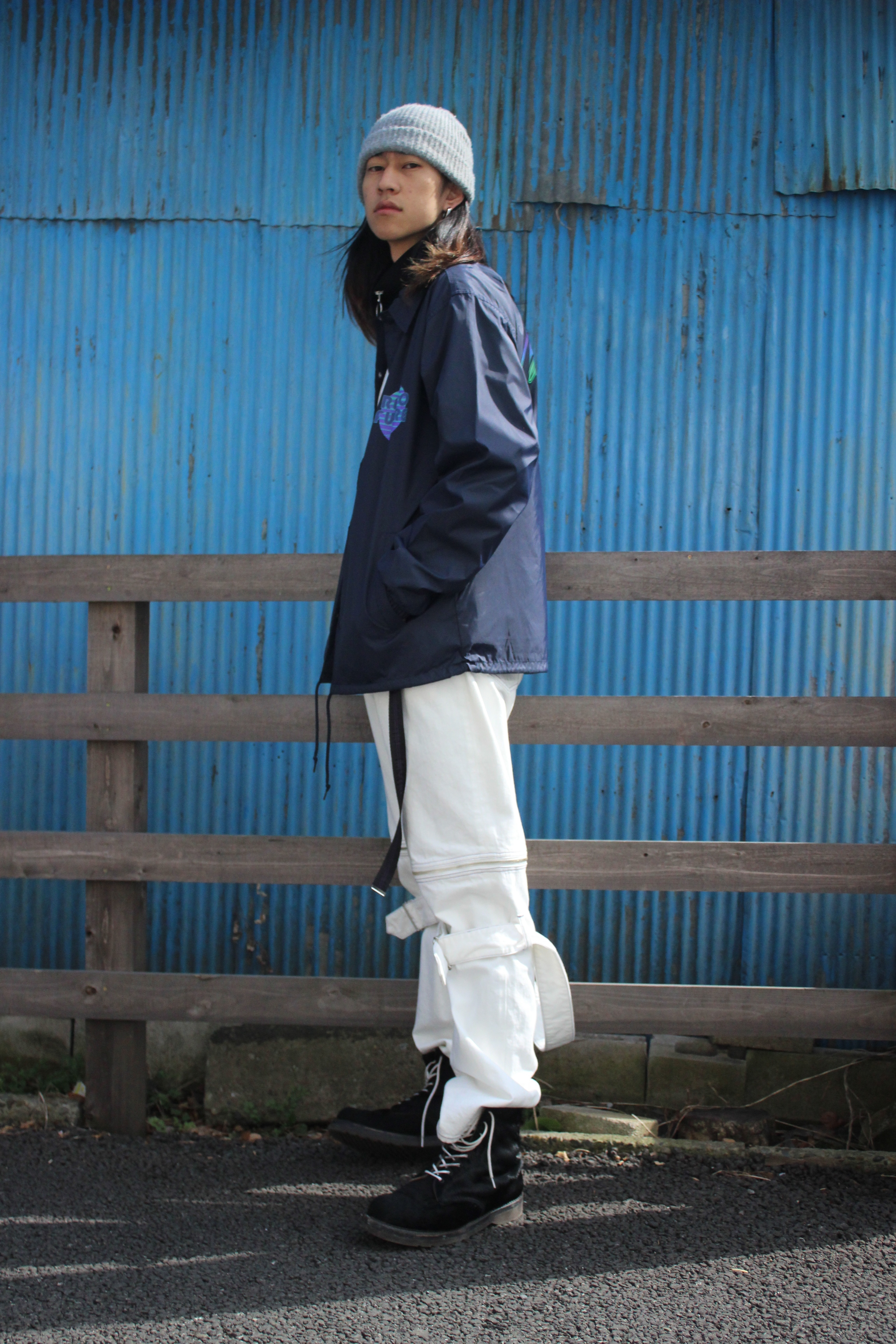 Midnight80 coach jacket / NAVY - 画像3