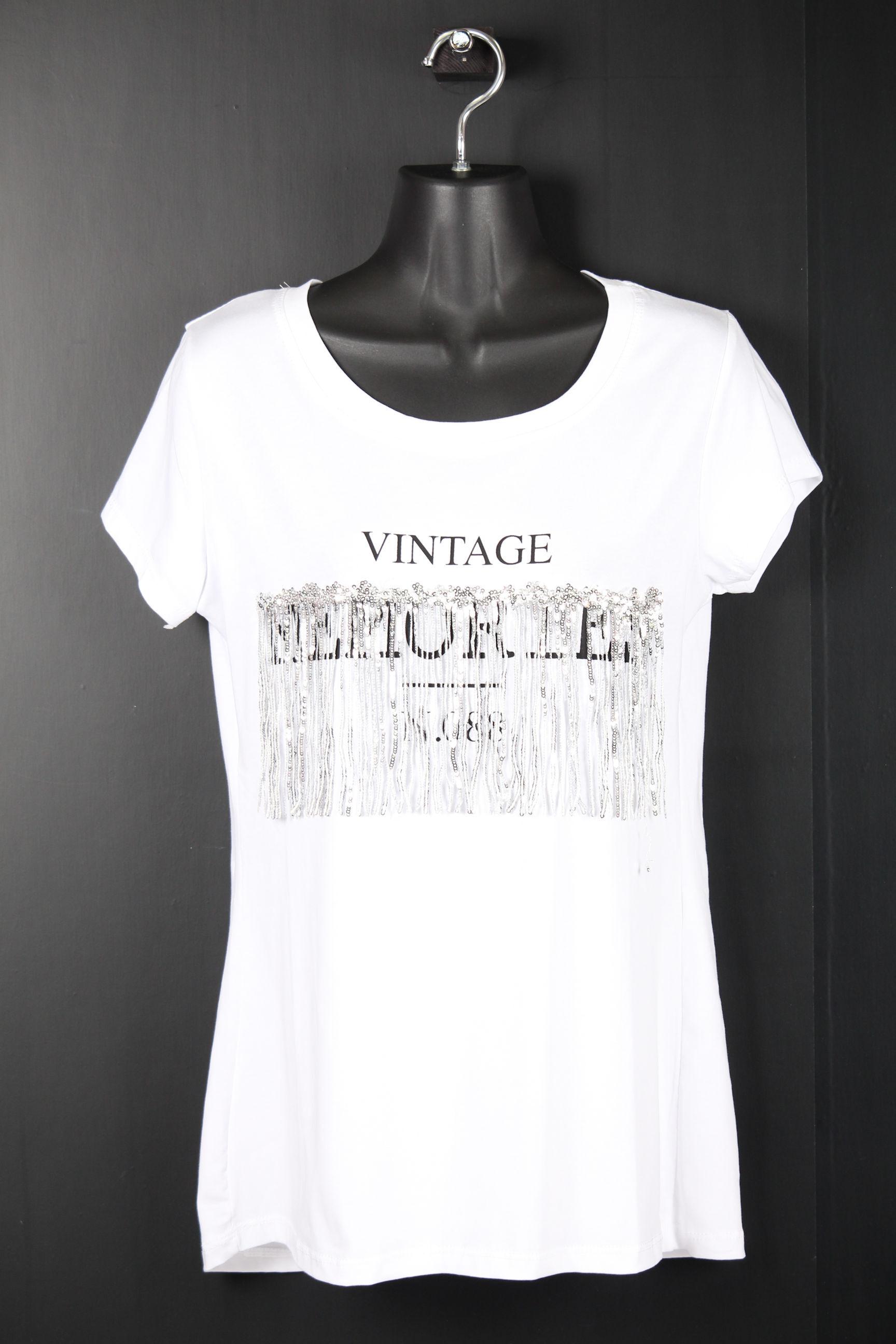 キラキラフリンジTシャツ