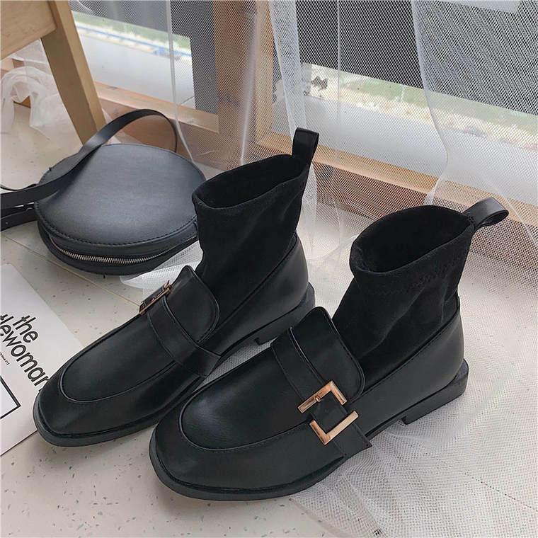 【送料無料】ローファー風 ♡  おしゃれ プレッピー 靴下 ショートブーツ