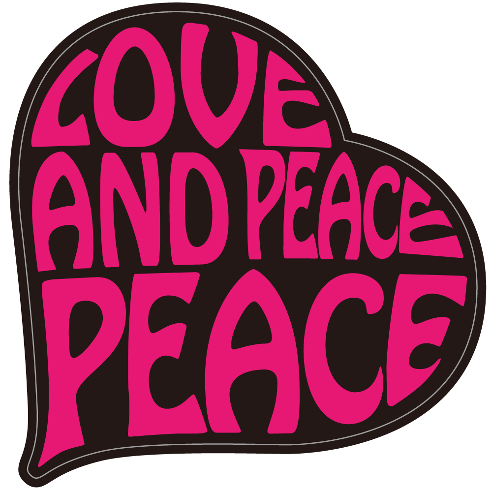 "080 LOVE&PEACE!! ""California Market Center"" アメリカンステッカー スーツケース シール"