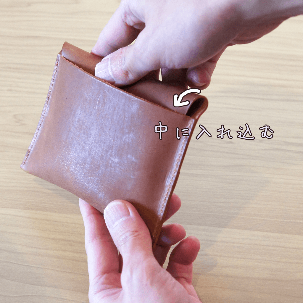 大人レザーのポケットティッシュケース【キャメル】