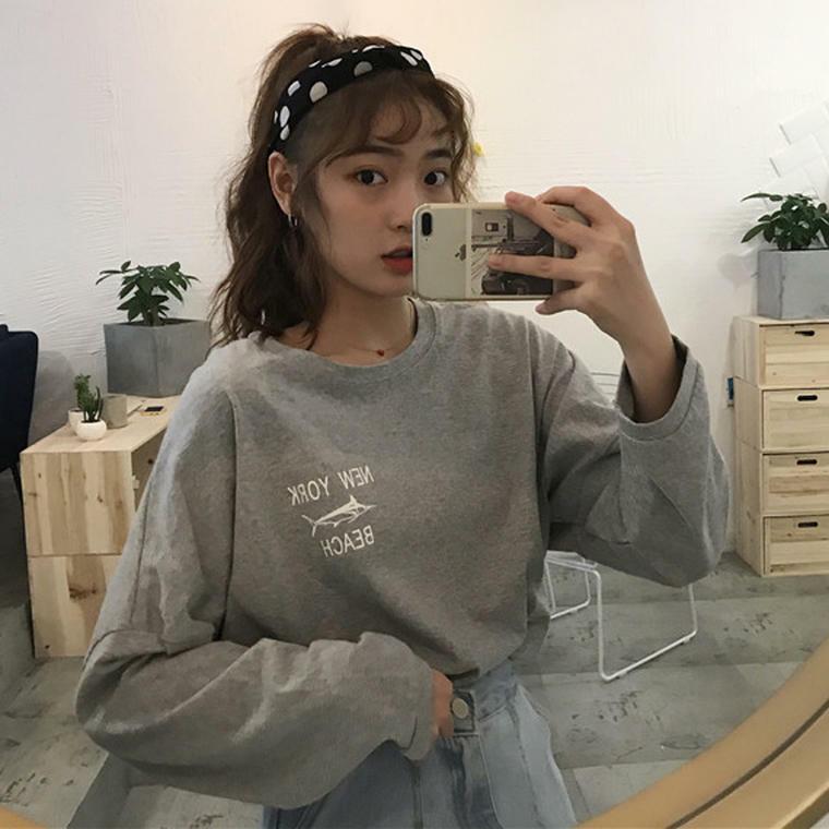 【送料無料】おしゃれなバックプリント ♡ カジュアル オーバーサイズ ロンT Tシャツ カットソー