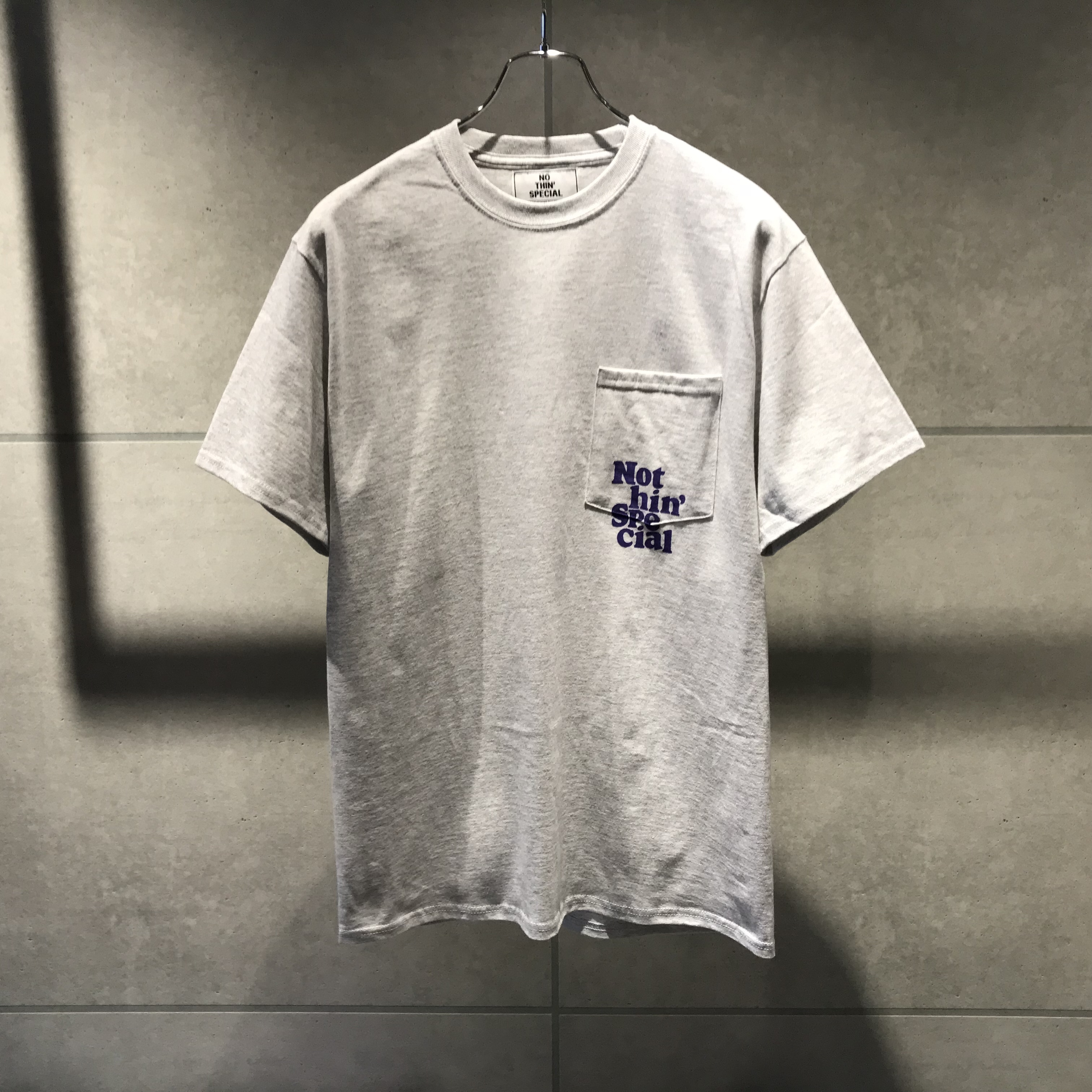 NOTHIN'SPECIAL DON'T BUY THE HYPE POCKET TEE / ASH x PURPLE