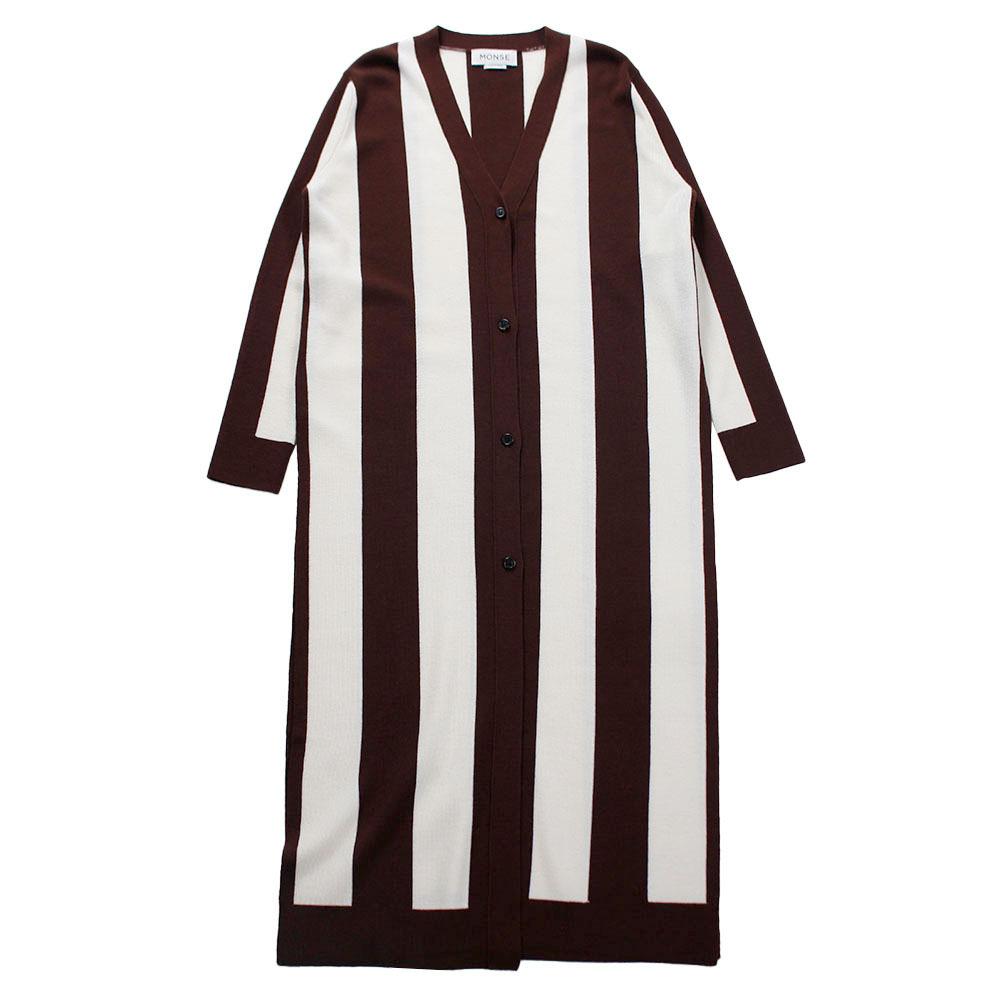 MONSE Stripe Knit Cardigan SIZE;XS