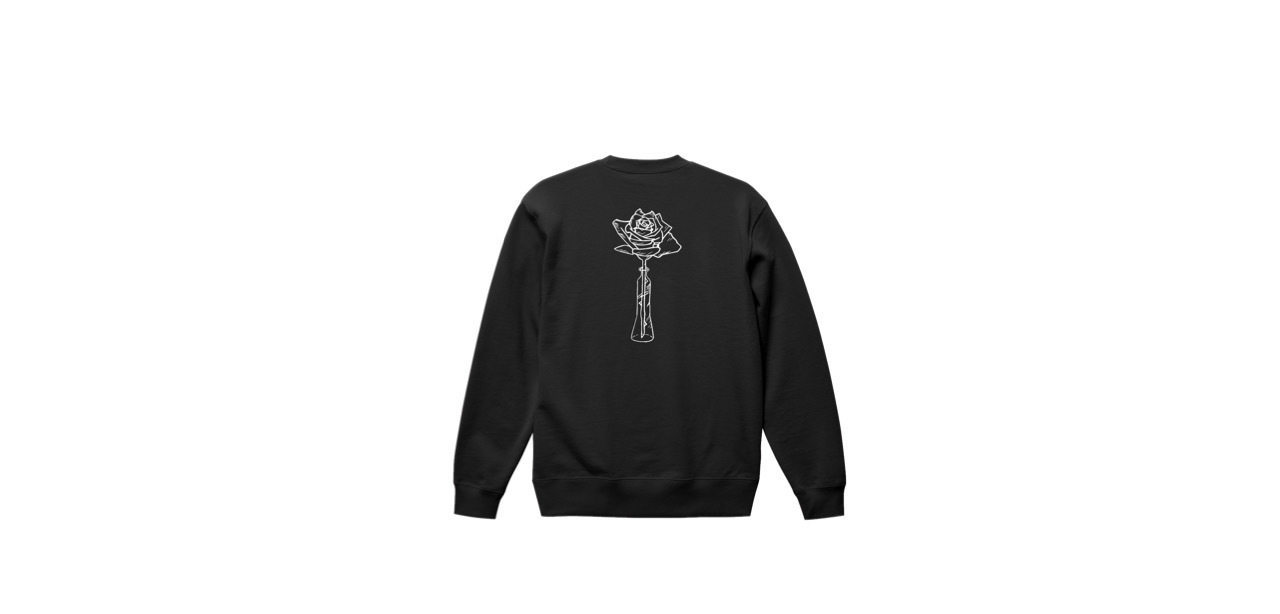 coguchi rose sweat (BLK)
