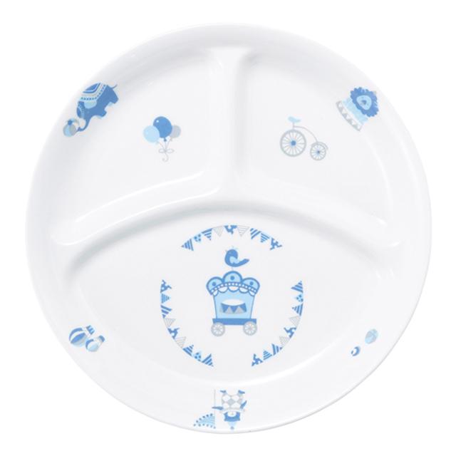 【1726-1300】強化磁器 22cm 仕切皿 シルク