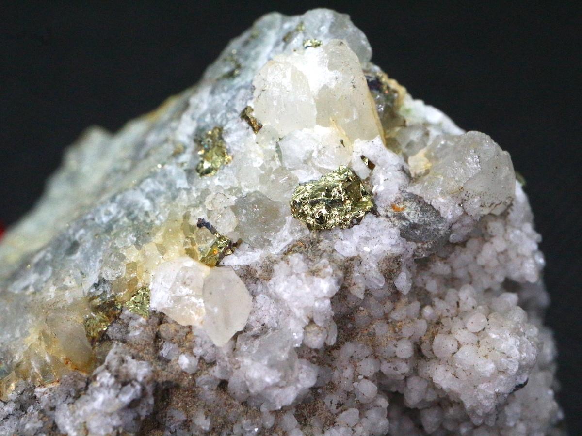 秋田県鹿角市 不老倉鉱山! 黄銅鉱 キャルコパイライト 水晶 107,6g  CHP018 鉱物 天然石 原石 パワーストーン
