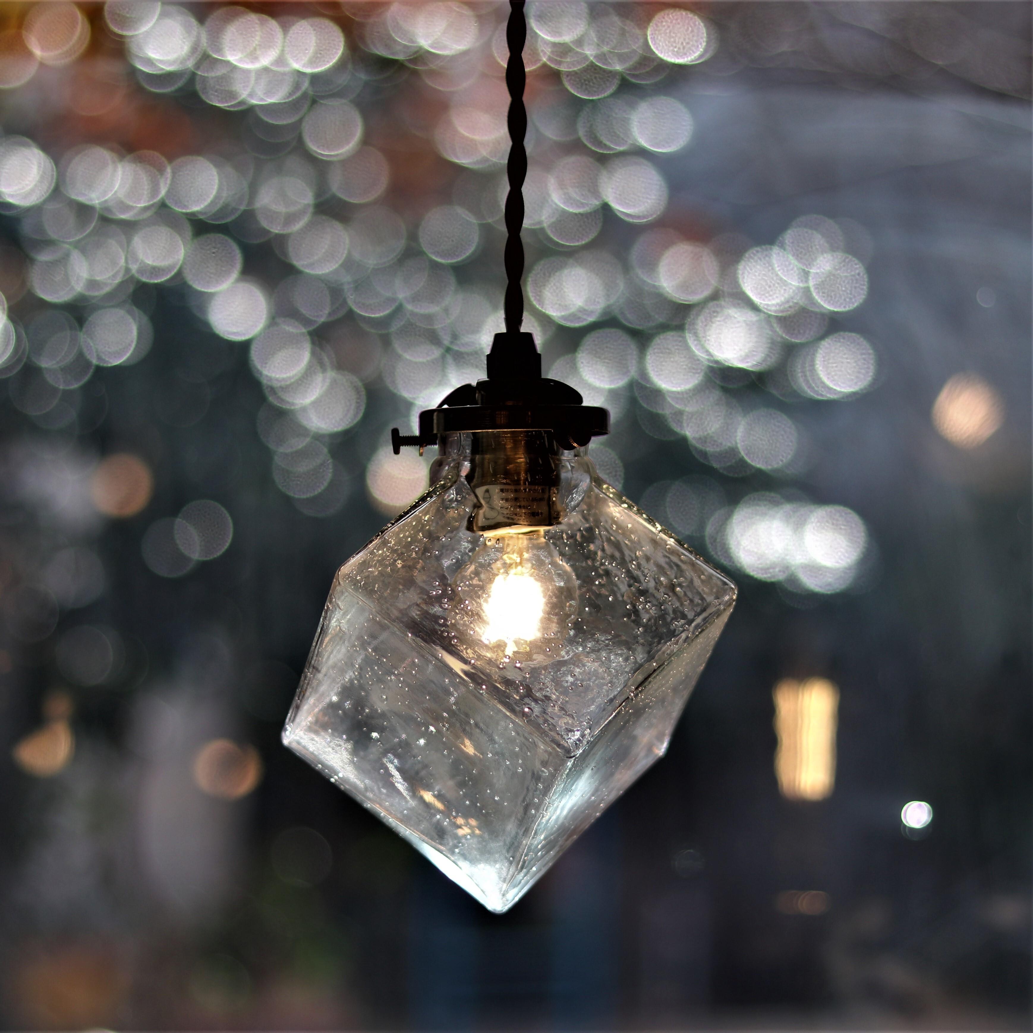 【照明】クアドラトガラスシェードペンダントランプ バブル【1438】