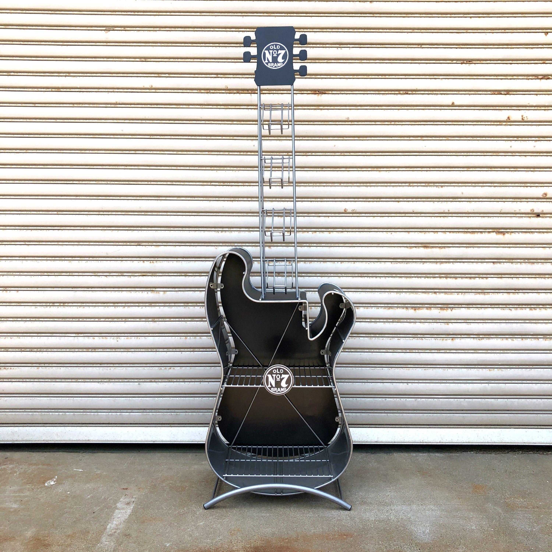 品番1216 Jack Daniel's ジャックダニエル ギター型 シェルフ 飾り棚 インテリア ヴィンテージ 011