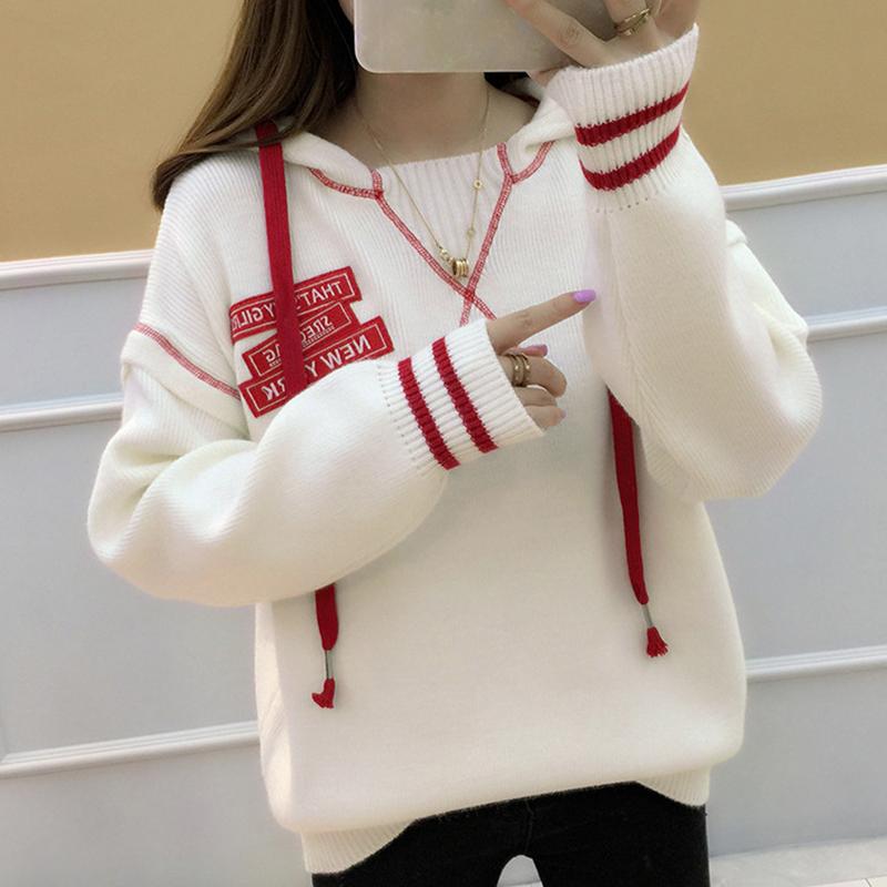 【トップス】ファッションフード付きアルファベット長袖セーター14951429