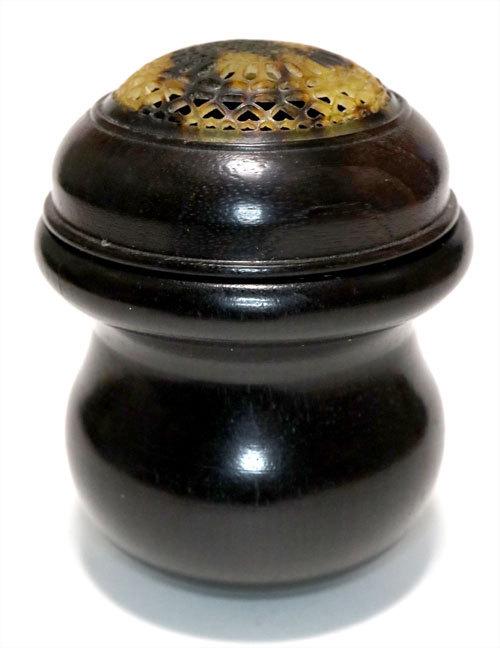 葫蘆型虫管 黒檀製 小サイズ